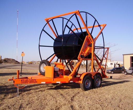 Midland carriers polyethylene pipe spool trailers and